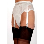NDL1 6 strap suspender belt with lace panels